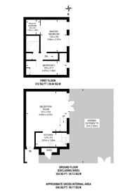 Large floorplan for Esmond Street, Putney, SW15
