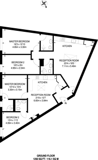 Large floorplan for Leopold Road, Wimbledon, SW19