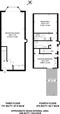 Large floorplan for Tunstall Road, Brixton, SW9