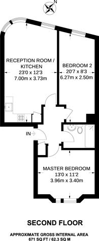 Large floorplan for Bishops Bridge Road, Bayswater, W2