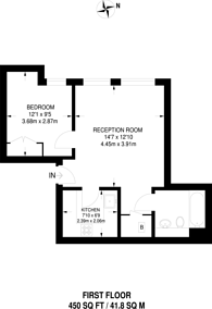 Large floorplan for Monck Street, Westminster, SW1P