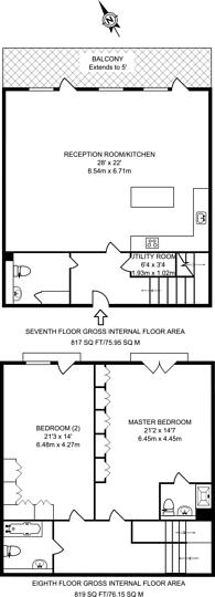 Large floorplan for Leamore Court, Stepney, E2