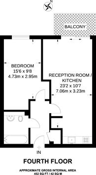 Large floorplan for Deals Gateway, Deptford, SE13