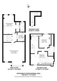 Large floorplan for Home Park Road, Wimbledon Park, SW19