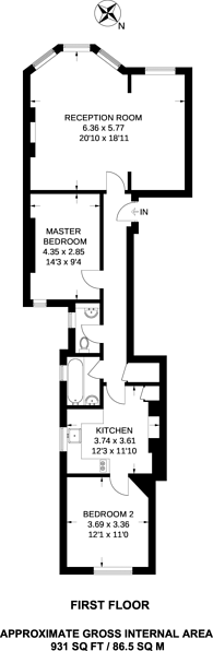 Large floorplan for Transept Street, Marylebone, NW1