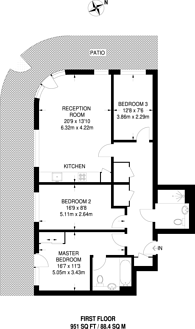 Large floorplan for Maltby House, Kidbrooke, SE3