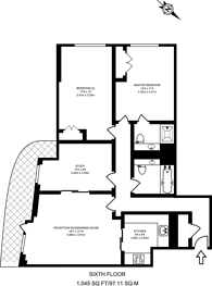Large floorplan for Sheldon Square, Westminster, W2