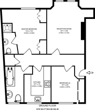 Large floorplan for Gladstone Court, Westminster, SW1P