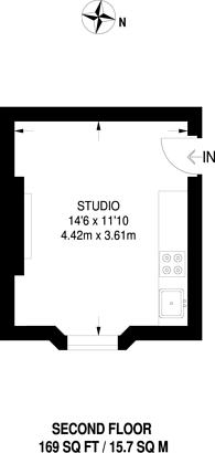 Large floorplan for Marloes Road, Kensington, W8
