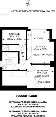 Large floorplan for Surbiton Hill Park, Berrylands, KT5