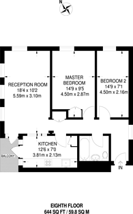 Large floorplan for Abbey Road, South Hampstead, NW6