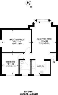Large floorplan for Oak Hill, Surbiton, KT6