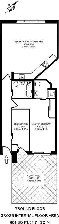 Large floorplan for Wellmeadow Road, Hanwell, W7