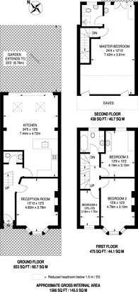 Large floorplan for Percy Road, Isleworth, TW7