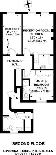 Large floorplan for Lexham Gardens, Kensington, W8