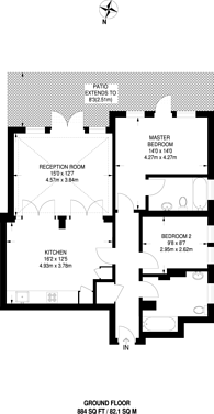 Large floorplan for Hervey Road, Blackheath, SE3