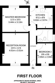 Large floorplan for Princes Drive, Harrow, HA1