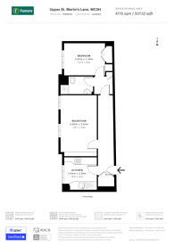 Large floorplan for St Martins Lane, Covent Garden, WC2H
