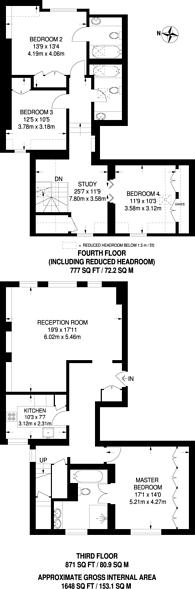 Large floorplan for Elm Park Gardens, Chelsea, SW10