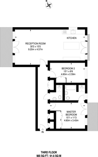Large floorplan for Keswick Road, Putney, SW15