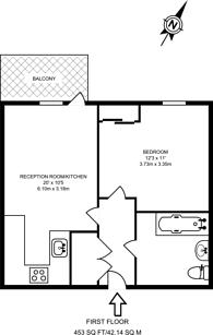 Large floorplan for Hoxton Wharf, Hoxton, N1