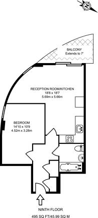 Large floorplan for Victoria Road, North Acton, W3