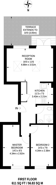 Large floorplan for Westbourne Park Road, Notting Hill, W2