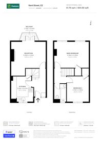 Large floorplan for Kent Street, Haggerston, E2