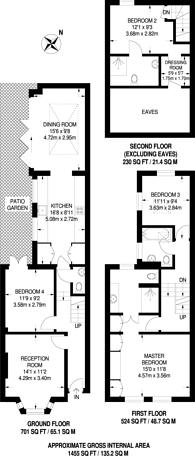 Large floorplan for Hannell Road, Munster Village, SW6