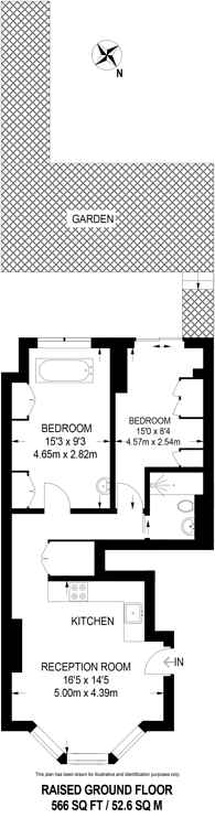 Large floorplan for Schubert Road, East Putney, SW15