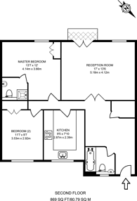 Large floorplan for Coverdale Road, Brondesbury, NW2