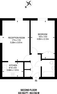 Large floorplan for Abingdon Court, Woking, GU22