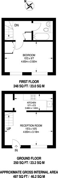 Large floorplan for Pendall Close, New Barnet, EN4