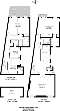 Large floorplan for Chesham Street, Belgravia, SW1X