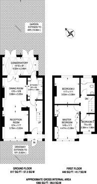 Large floorplan for Helmsdale Road, Streatham Vale, SW16