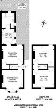 Large floorplan for Windsor Road, Kingston, KT2