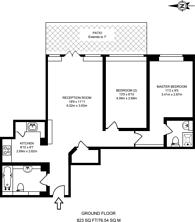 Large floorplan for Greystoke House, Ealing, W5