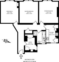 Large floorplan for Kensington Mall, Kensington, W8