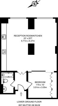 Large floorplan for Great Portland Street, Marylebone, W1W