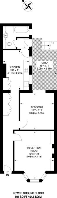 Large floorplan for Victoria Road, Twickenham, TW1