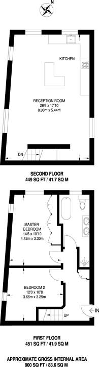 Large floorplan for Nottingham Court, Covent Garden, WC2H