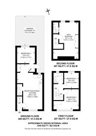 Large floorplan for Durnsford Road, Summerstown, SW19