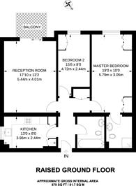 Large floorplan for Roxborough Park, Harrow on the Hill, HA1