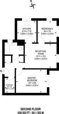 Large floorplan for Mercer Place, Pinner, HA5