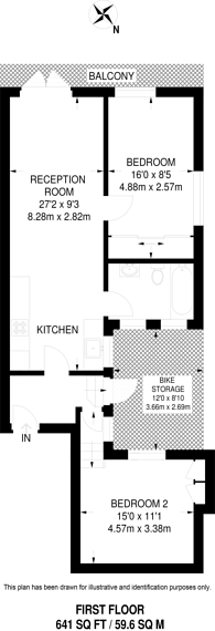 Large floorplan for Kennington Lane, Vauxhall, SE11