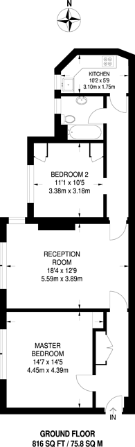 Large floorplan for Dartmouth Grove, Blackheath, SE10