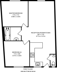 Large floorplan for Ranelagh Gardens, Hurlingham, SW6