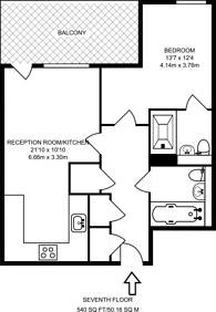 Large floorplan for Loudoun Road, St John's Wood, NW8