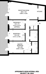 Large floorplan for Hertford Road, Islington, N1