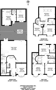 Large floorplan for Collingwood Avenue, Tolworth, KT5